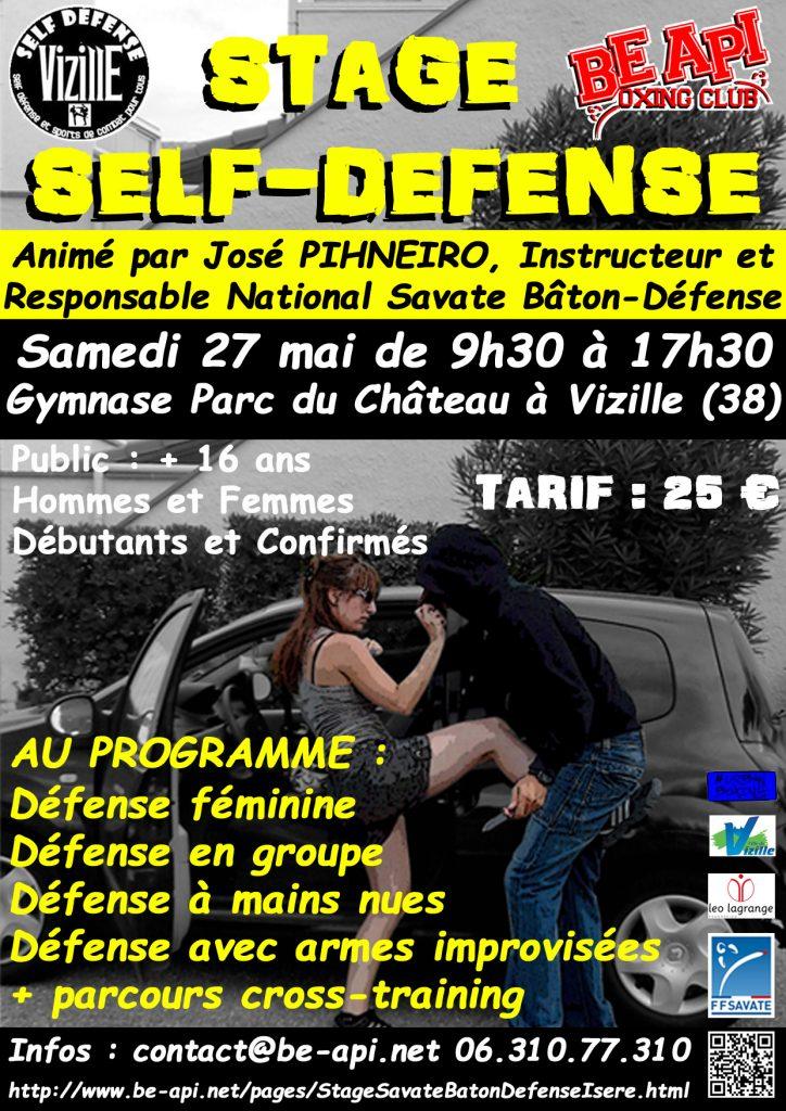 Affiche Stage Self Defense 2017